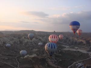 De balão na Capadócia