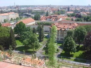 Praga, rio Moldava ao fundo