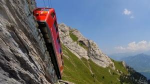 Steilste Zahnradbahn der Welt Pilatus